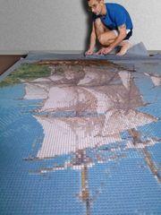 Художественная мозаика для облицовки стен.